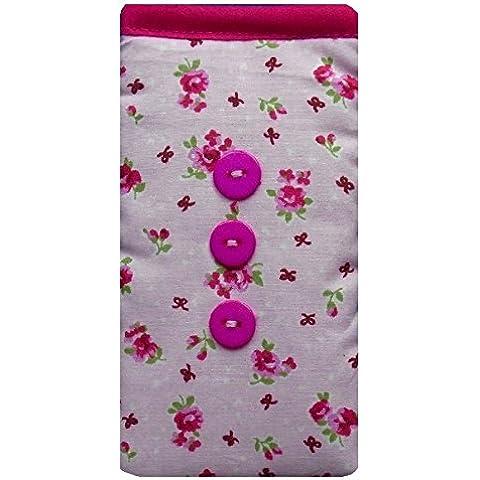 Cute Pink Vintage Fiori Custodia calzino per Apple Iphone