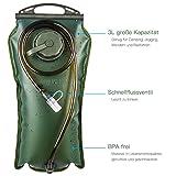 BONL Trinkblase 3 Liter, Hochwertige Wasserreservoir, weit zu öffnende, moll-Geschmack, für Wandern, Radtour, Klettern, wasser rucksack, Aktivitäten im Freien,Langlebig, einfachste zu reinigen -