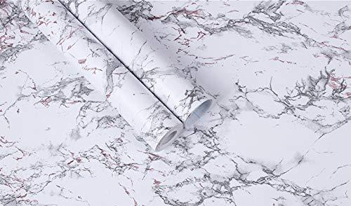 DXIA Carta Adesiva per Mobili Carta Per Contatti Marmo 45X1000 Pellicola AdesivoVinile Autoadesivo Decorazione ImpermeabileOil proof per pareti porta