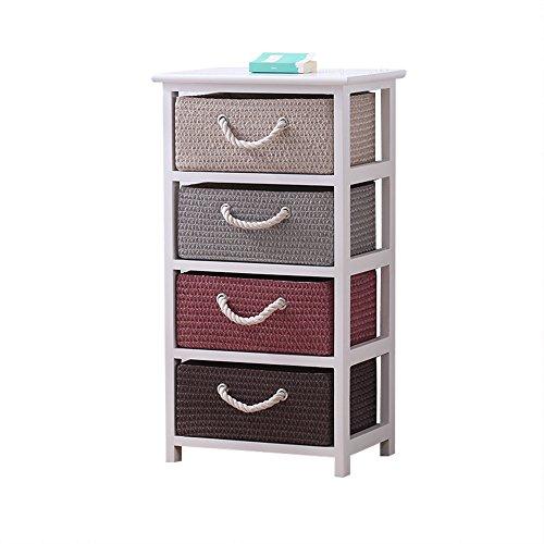 Emma home Nachttisch Schlafzimmer Kommode Aufbewahrungsschränke Im Europäischen Stil Schließfächer Rattan Schrank Nachttisch (größe : C-40 * 30 * 76)