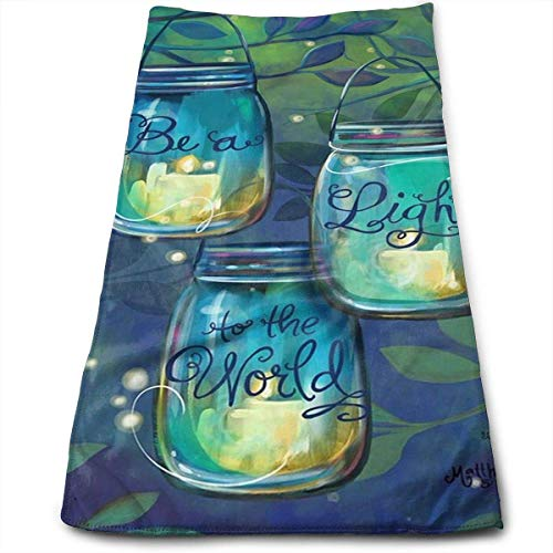 Garden Flag Inspirational Candles Superweiche, maschinenwaschbare und hochsaugfähige Handtücher ()