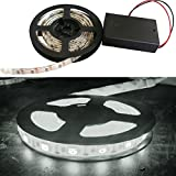 iNextStation® 120LED SMD 5050 LED Waterproof Strip String Light 5V Battery Box Lamp (2.0M, Cold White)