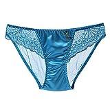 VLIMG Frauen Gazeunterwäsche, Taille und Hüfte heiß sexy Spitze Damen Unterwäsche Slips transparent, 6, Größe