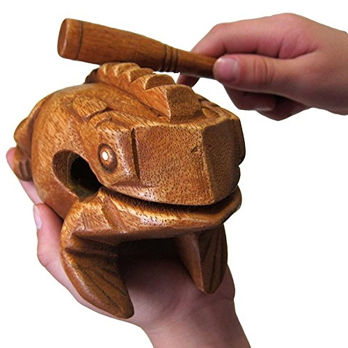 15,2cm Holz Frosch Guiro Raspel Holz Handwerk Musikinstrument Tone Block World Percussion USA Holz Spielzeug (Für Holz-blöcke Handwerk)