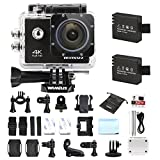 Action Cam 4K, Wimius Sport Action Camera WIFI Full HD 16MP, Fotocamera Subacquea 4k Impermeabile WebCamera 170°Grandangolare 2.0