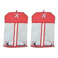 Kuber industrias para colgar organizador para pañuelo, UG, bebé pañales en Red Material juego de 2pcs (ki3511)