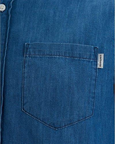 Carhartt Ch L/S Civil, Chemise Casual Homme Bleu (Stonewash)