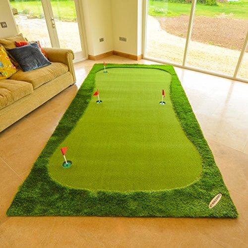 Net World Sports Profi-Golf Putting Matten - Praxis & Verbessern, Putt Striche, Putting Matte Golfübungsgeräte (XL)