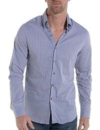 Sixth June - Chemise homme à carreaux blanc fashion