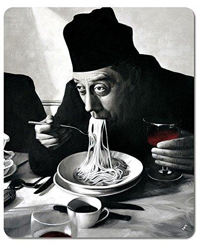 Preisvergleich Produktbild 1art1 89896 Kochkunst - Spaghetti, Rotwein, Don Camillo Mauspad 23 x 19 cm