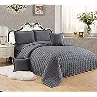 طقم لحاف مضغوط وجهين مفرش سرير 4 قطع, مقاس مفرد