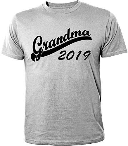 Mister Merchandise Herren Men T-Shirt Grandma 2019 Tee Shirt bedruckt Grau