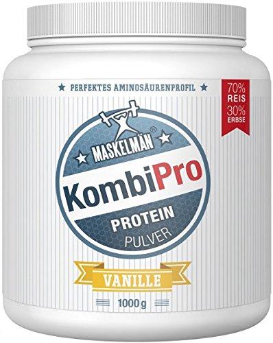 Maskelmän Proteinpulver KombiPro Vanille - Reis- und Erbsenproteine - 1000 g
