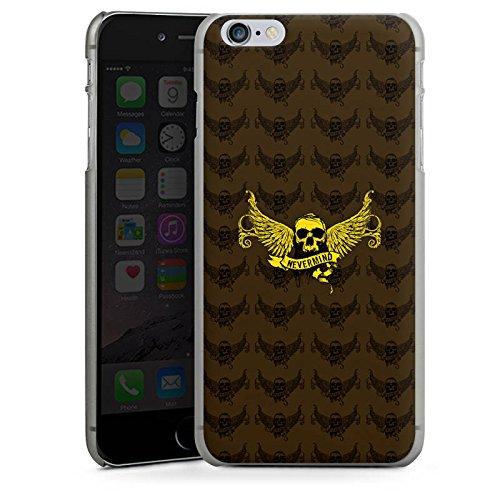 Apple iPhone X Silikon Hülle Case Schutzhülle Gold Skull Nevermind Hard Case anthrazit-klar