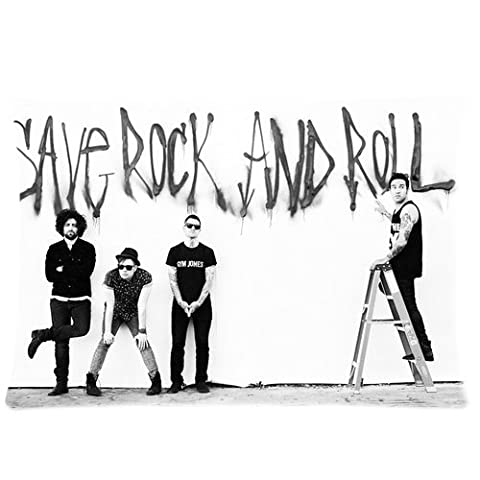 Custom Cotton & Polyester Soft Rectangle Zippered Pillow Case Cover 20X30 (Twin Sides) - Movie Actor Star Music Singer Band Series American Chicago Idol Group Fall Out Boy Black And White Pilllowcase For Fans Design