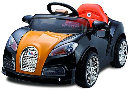 Mondial Toys AUTO ELETTRICA PER BAMBINI 12V MACCHINA CON TELECOMANDO LUCI A LED MP3 NERO