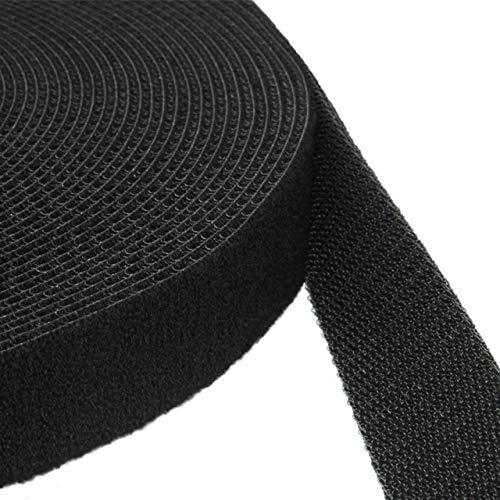 Klebeshop24 KLETTBAND BEIDSEITIG | Haken + Flausch Rücken an Rücken | Breite + Farbe wählen -