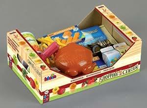 """Klein - 9659 - Jeu d'Imitation - Cagette """"Mes Provisions"""" avec Aliments et Argent Factices"""