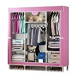 XIAONUA Kleiderschrank Kleiderschrank Lagerung, Schrank Regal Organisatoren und Lagerung, Stoff Kleiderschränke für Schlafzimmer, Schrank Tragbare,A_57.1x17.7x64.9inch