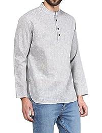VIVIDS INDIA MEN'S Cotton Short Kurta (Light Grey , G-154 - $P)