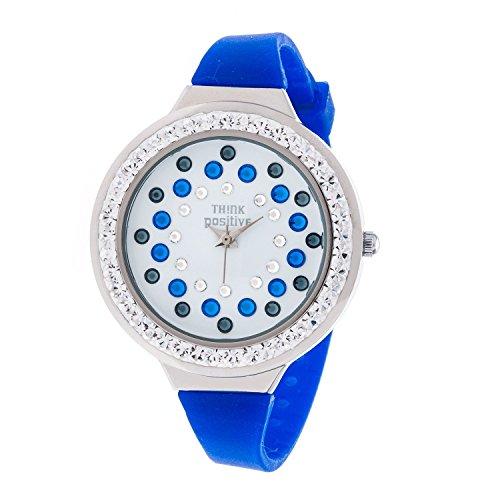 senoras-think-positiver-modelo-se-w116a-star-dust-tunel-medio-correa-de-acero-de-silicona-color-azul