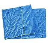 Sowel® Anti-Rutsch Strandtuch mit Kapuze, Liegenauflage für Strand-, Sauna- und Wellness-Liege, 100% Baumwolle, 80 x 220 cm, Blau/Türkis