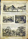 Copie Indigène 1865 de Freetown de Village de la Sierra Leone Afrique