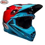 Bell Helme moto-9Flex, Hound cyan/rot, Größe M