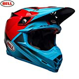 Bell Helmets Moto-9 Flex, Hound Cyan/Rot, Größe S