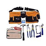 Kosma electricista Tool Kit | D.I.Y. Kit de herramientas mecánicas de juego 7 | carpintero delantal de cuero