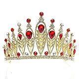 DROHE-Q Braut Krone Europäische Und Amerikanische Populäre Legierung Strass-Goldenes Blatt Headwear Hoop Party Kleidung Accessoires