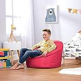 Bean Bag Bazaar Silla Tipo Puf Infantil Clásico - 58cm x 42cm, Puf Grande Infantil para Interiores o Exteriores (Rosado, 1)
