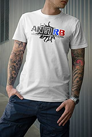 Anti RB T-Shirt, weiss, Ultras, Hooligans, Neu, S-XXL (L)