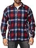 ArizonaShopping Herren Fleece Hemd Holzfäller Kariert, Farben:Rot, Größe Jacken:L