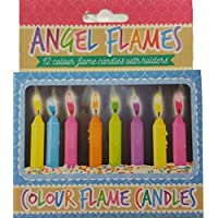 Henbrandt Coloured Birthday Cake Candles - Pack of 12