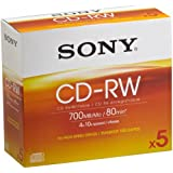 Sony 5cdrw700hsdcdrw700Dat 5P 700MB 5Stück (E)