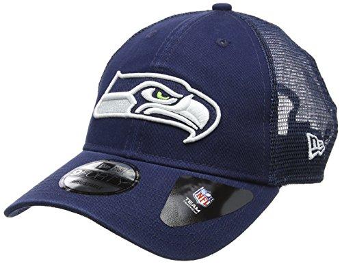 New Era Herren 9FORTY Trucker Washed Seattle Seahawks NFL Cap, DK Blue (Nfl-seahawks Baseball-cap)