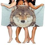 xcvgcxcvasda Serviette de Bain, Soft, Quick Dry, Beach Towel Zoo Portraits Wolf 80' X...