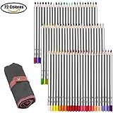 GHB Lápices de Colores 72 Colores Lápices Profesional para Arte Dibujo Lapices de Dibujo del Artista Adulto Secreto Jardín Colorear Libro Niños Artista Escritura Arte