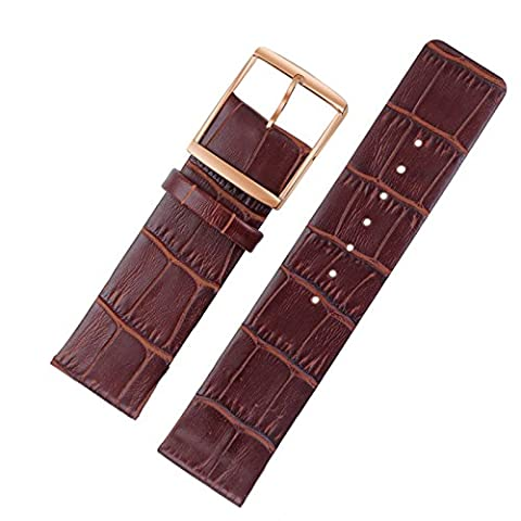bracelets de montres en cuir mince 22mm de première qualité brun sans couture Astuce droite de la mode de luxe / robe / montres classiques