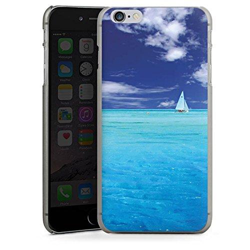 Apple iPhone X Silikon Hülle Case Schutzhülle Karibik Meer Segelboot Hard Case anthrazit-klar