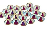 EIMASS 7767, DMC-Hotfix-Strasssteine, flache Steine mit klebender Rückseite zum Heißkleben, 1440Stück, Crystal AB Vector, 7.5 mm
