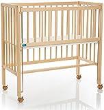 Fillikid Beistellbett Cocon Grib 90x40cm | Matratze CLASSIC | Kinderbett mit 3 fach höhenverstellbarer Liegefläche | Zustellbett | Stillbett aus Buchenholz, Design:Cocon natur, Größe:Set mit Matratze