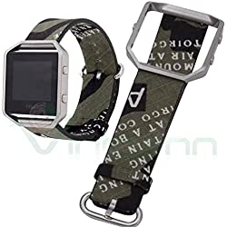 Military mimentico Replacement Wrist Strap for Fitbit Blaze Smart Fitness Watch