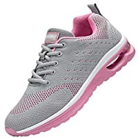 adituob Womens Air Cushion Running Shoes Breathable Walking Gym Fitness Athletic Sports Sneakers Greypink 4.5UK/37EU