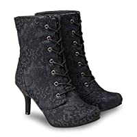 Joe Browns Womens Heeled Gothic Style Mid Calf Boots