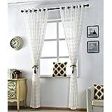 Wohnzimmer gardinen,Schlafzimmer dekorative vorhänge schatten tuch europäischen druck leinen stock nordische mode pastorale süße prinzessin wind einfach modern 1 dämmplatten-A 200x270cm(79x106inch)