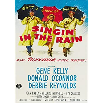 VINTAGE SINGING IN THE RAIN MOVIE POSTER A4 PRINT