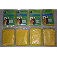 Hooded Rain Ponchos (Pack of 8) Yellow