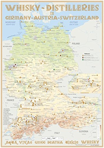 Whisky Distilleries D/A/CH - Tasting Map 24x34cm: The for sale  Delivered anywhere in UK